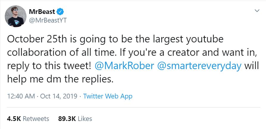 Mr Beast Tweet