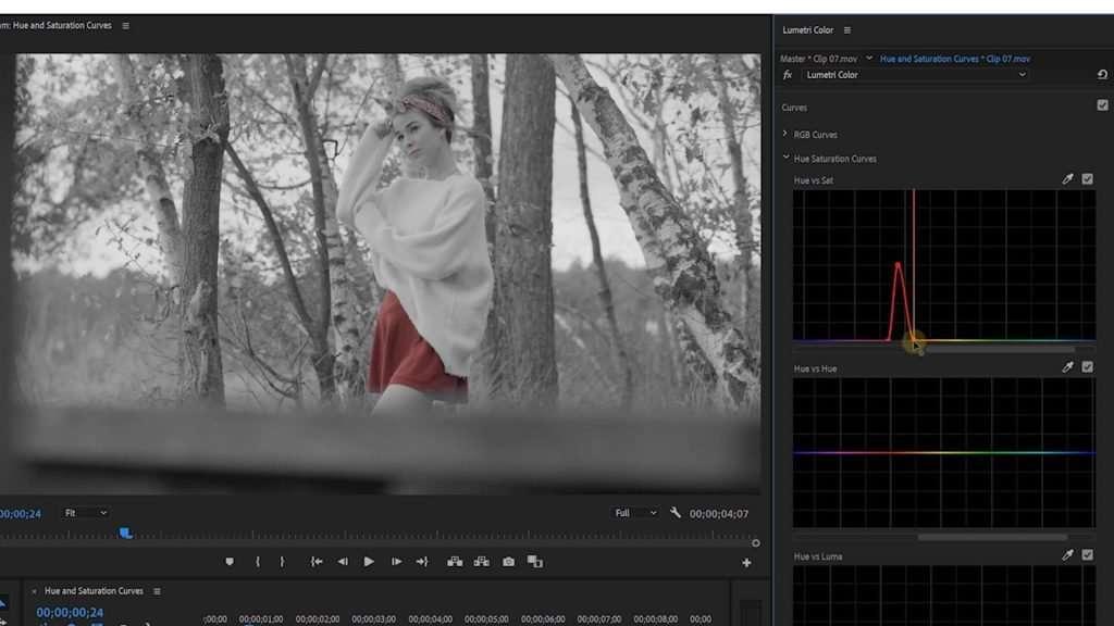Color Curves in Premiere Pro Lumetri