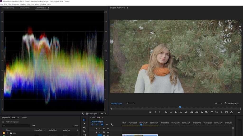 Waveform Tools in Premiere Pro Lumetri