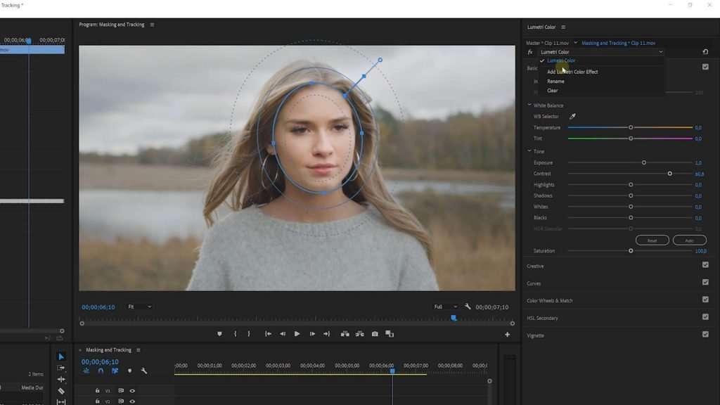 Mask Color Grading in Premiere Pro Lumetri