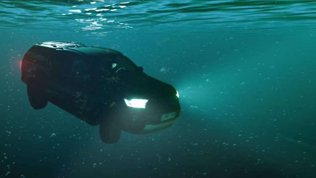underwater car scene