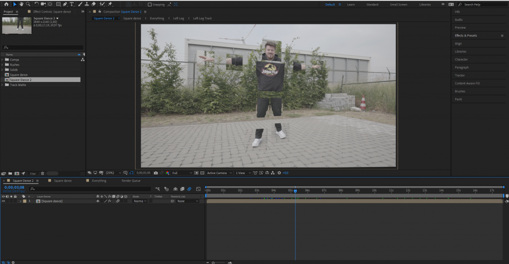 Square Dance in After Effects