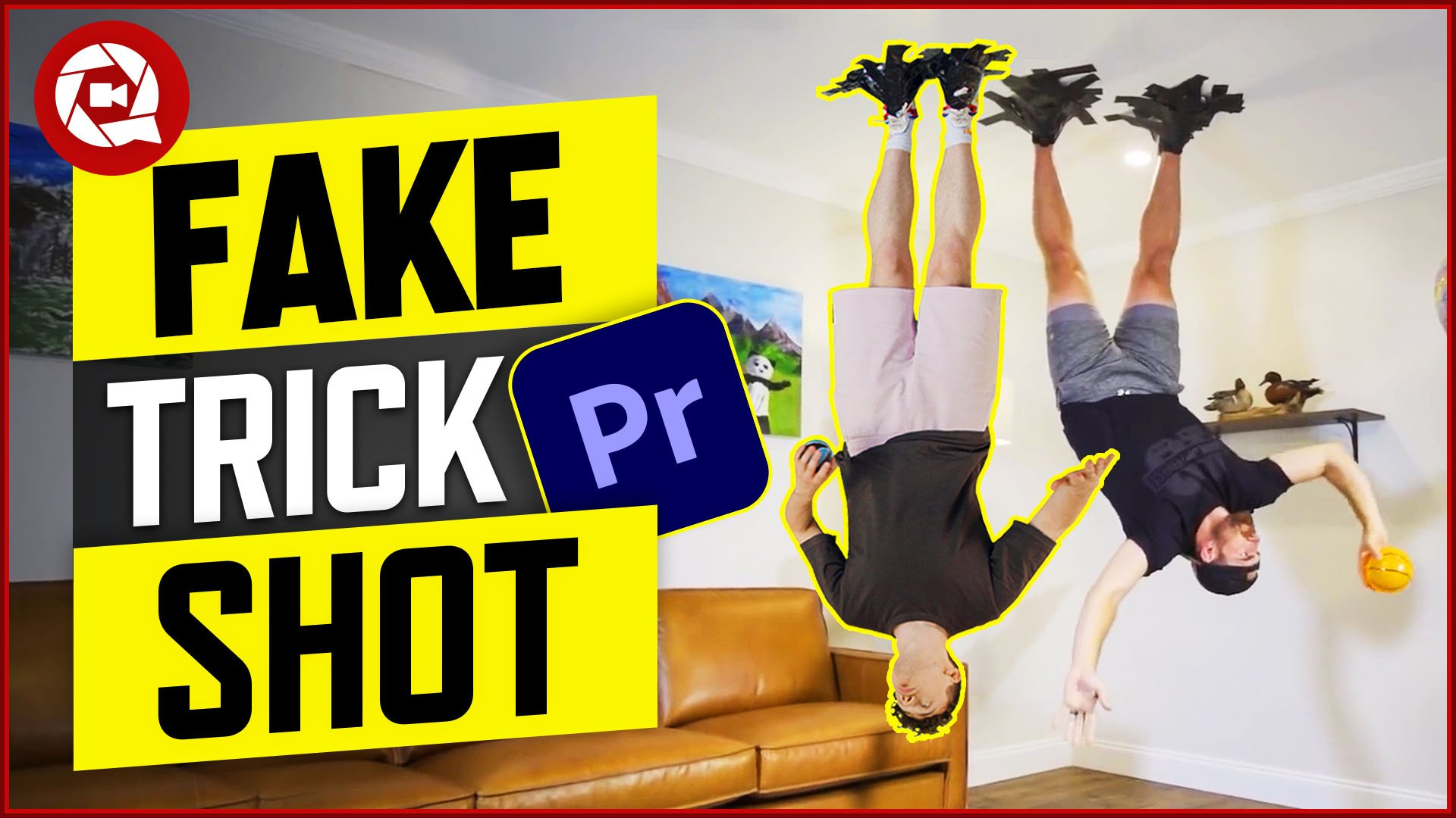 Fake Upside Down Trick Shot From Dude Perfect in Adobe Premiere Pro