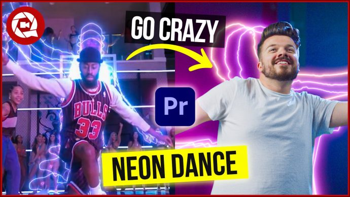 We made a Super Easy Neon Dance Effect In Adobe Premiere Pro