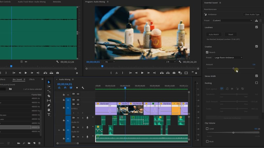 Audio Enhancing in Premiere Pro