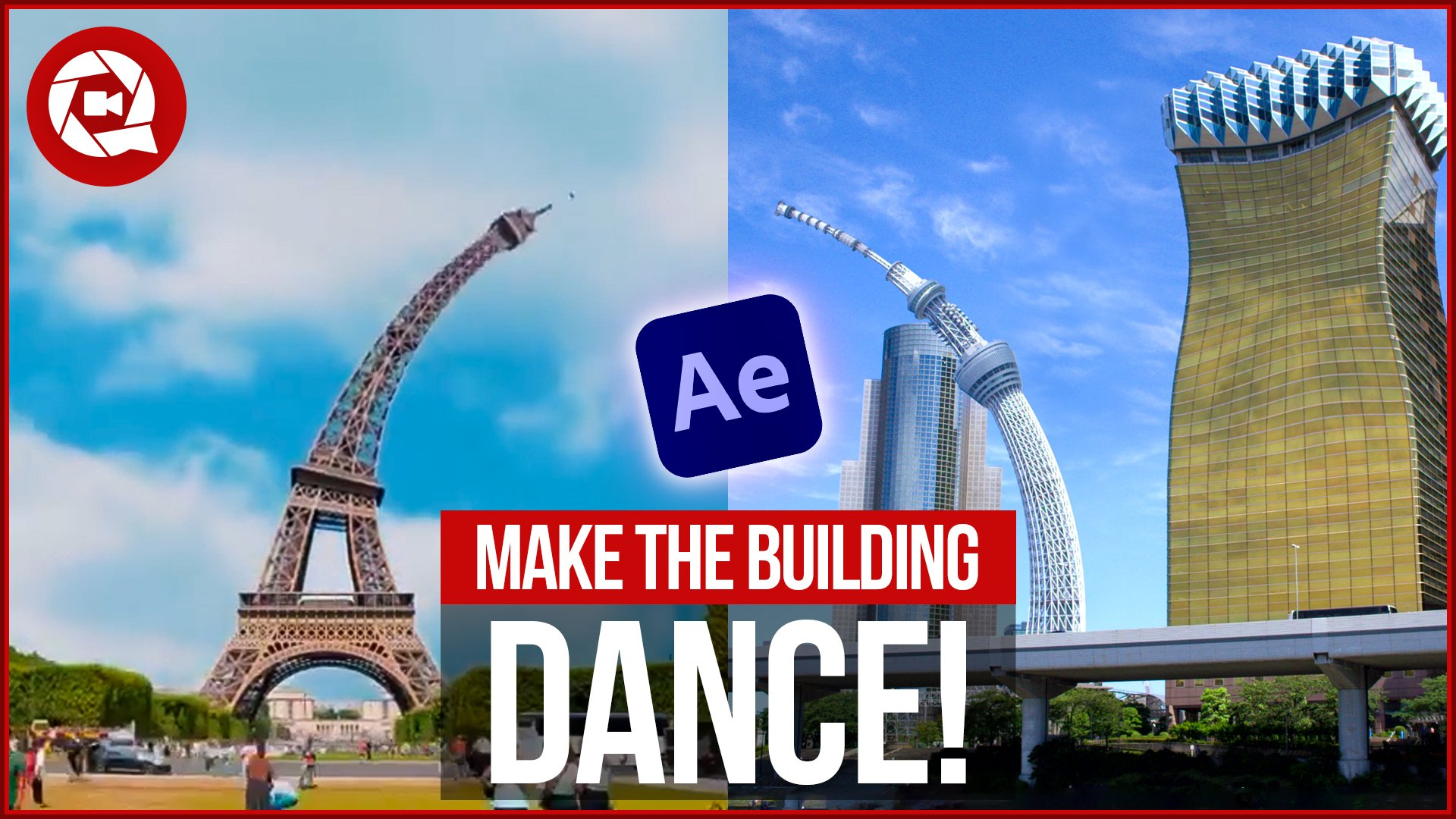 Dancing Building Effect in After Effects