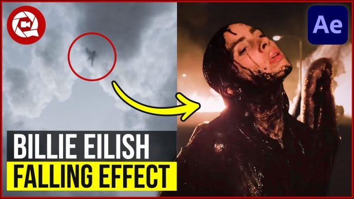 Billie Eilish – Fall through sky effect in After Effects
