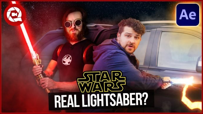 Fake Lightsaber Cuts Everything Like The Hacksmith in after effects