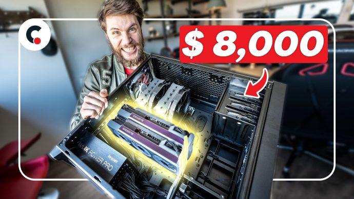 I bought an $8,000 COMPUTER BEAST (2x RTX 3090)