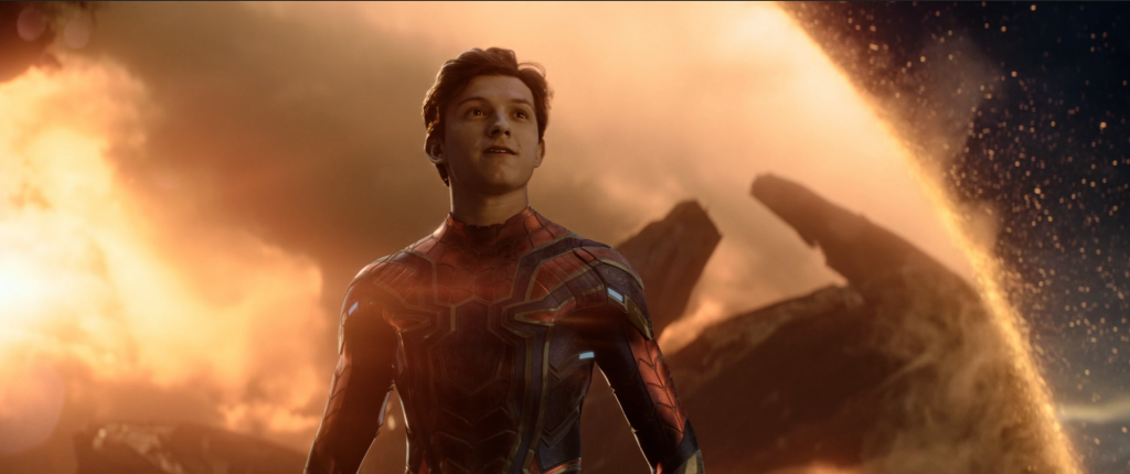 Spider Man in The Avengers End Game