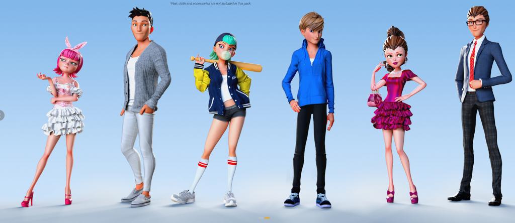 3D Toon Figures pack