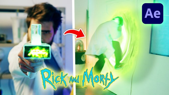 Rick And Morty Portal effect in Adobe After Effects (Tutorial)