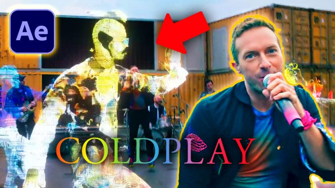 3D Hologram from Coldplay in After Effects