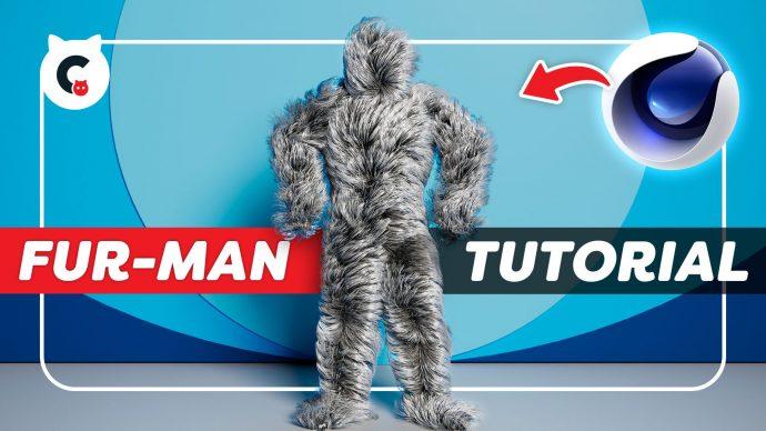 Recreate the Fur-Man Dancer from Major Lazer (Cinema4D Tutorial)